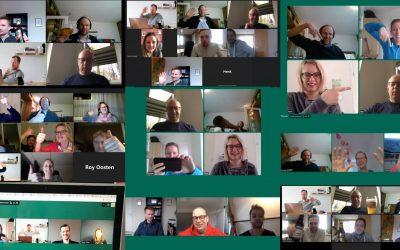 Ondernemers bij Waves Coworking zetten community-gevoel online voort